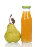 Bottle of pear juice Stock Photo