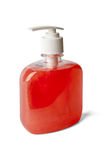Bottle of pearl - reddish liquid soap Royalty Free Stock Photography