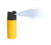 Bottle of pepper spray. Isolated on white background royalty free stock photos