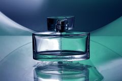 Bottle of perfume. Empty bottle of perfum isolated Royalty Free Stock Images
