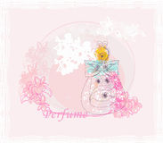 Bottle of perfume with a floral aroma Royalty Free Stock Photography