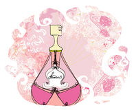 Bottle of perfume with a floral aroma Royalty Free Stock Photo