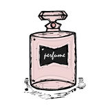 A bottle of perfume for girls, women. Fashion and beauty, trend, aroma. Royalty Free Stock Image