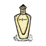 A bottle of perfume for girls, women. Fashion and beauty, trend, aroma. Royalty Free Stock Photos