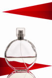 Bottle of perfume isolated over a white background Stock Image