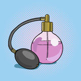 Bottle perfume pop art style vector Stock Photo