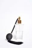 Bottle of perfume on white Royalty Free Stock Photos