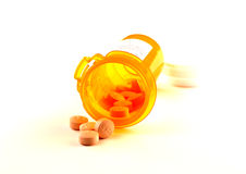 Bottle of pills stock photo