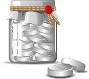 Bottle of Pills Royalty Free Stock Photography