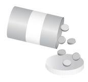 Bottle pills Stock Photo