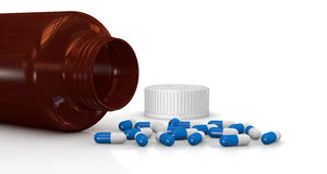 Bottle and pills Royalty Free Stock Photography