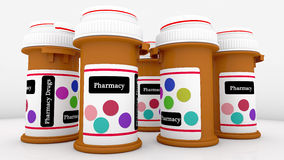 Bottle of pills Stock Images
