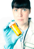 Bottle of pills Stock Photography