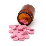 Bottle of pills isolated on white background Royalty Free Stock Photo