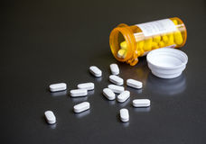 Bottle of Pills Royalty Free Stock Images