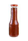 Bottle with piquant tomato ketchup Royalty Free Stock Photo