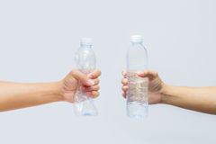 Bottle. Plastic isolated trash water Stock Photo