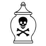Bottle of poison Royalty Free Stock Image