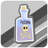 Bottle of Poison Illustration Royalty Free Stock Photo