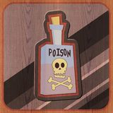 Bottle of Poison Illustration Royalty Free Stock Photography