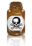 Bottle of poison Stock Photos