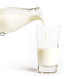Bottle pouring milk Royalty Free Stock Image