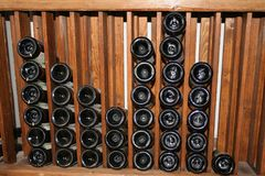 Bottle rack Stock Images