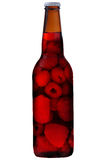 A bottle of raspberry drink Royalty Free Stock Photo