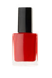 Bottle of red nail polish Stock Photo