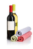 Bottle of red and white wine Royalty Free Stock Photos