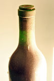 Bottle of red wine. After years of aging with cobwebs and dust stock images