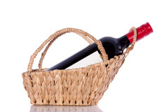 A bottle red wine Royalty Free Stock Photo
