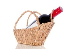 A bottle red wine Royalty Free Stock Images