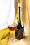 Bottle of Red Wine Stock Photography