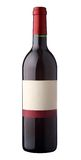 Bottle of red wine with blank label. On white background Royalty Free Stock Image