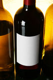 Bottle of red wine with blank label Royalty Free Stock Image