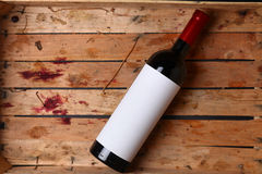 Bottle of red wine Royalty Free Stock Images