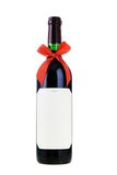 Bottle of red wine with bow ribbon Royalty Free Stock Image