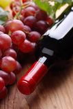 Bottle of red wine Stock Images
