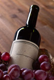 Bottle of red wine. The bottle of red wine , focus on label Stock Photos