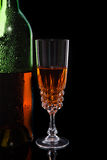 Bottle with red wine and glass Royalty Free Stock Photo