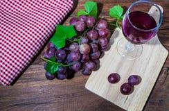 Red grape wine royalty free stock photos