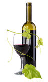 Bottle of red wine, isolated on white background Royalty Free Stock Images