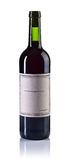 Bottle of red wine isolated on white. The bottle of red wine isolated on white background Royalty Free Stock Images