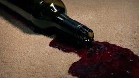 Wine Bottle Knocked Over Staining Carpet