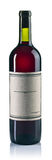Bottle of red wine on white. The bottle of red wine on white background royalty free stock photo
