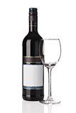 Bottle of red wine with wine glass Royalty Free Stock Image