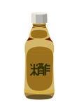 Bottle of rice vinegar,  on white Royalty Free Stock Photos