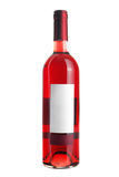 Bottle of rose wine. Isolated royalty free stock photo