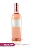 Bottle of rose wine Stock Photography